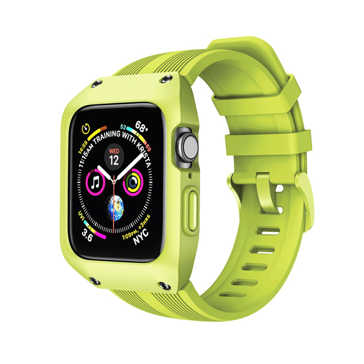 Tough Sports Apple Watch Band With Built In Case Yellow Green / 44mm (Series 4, 5, 6 & SE)