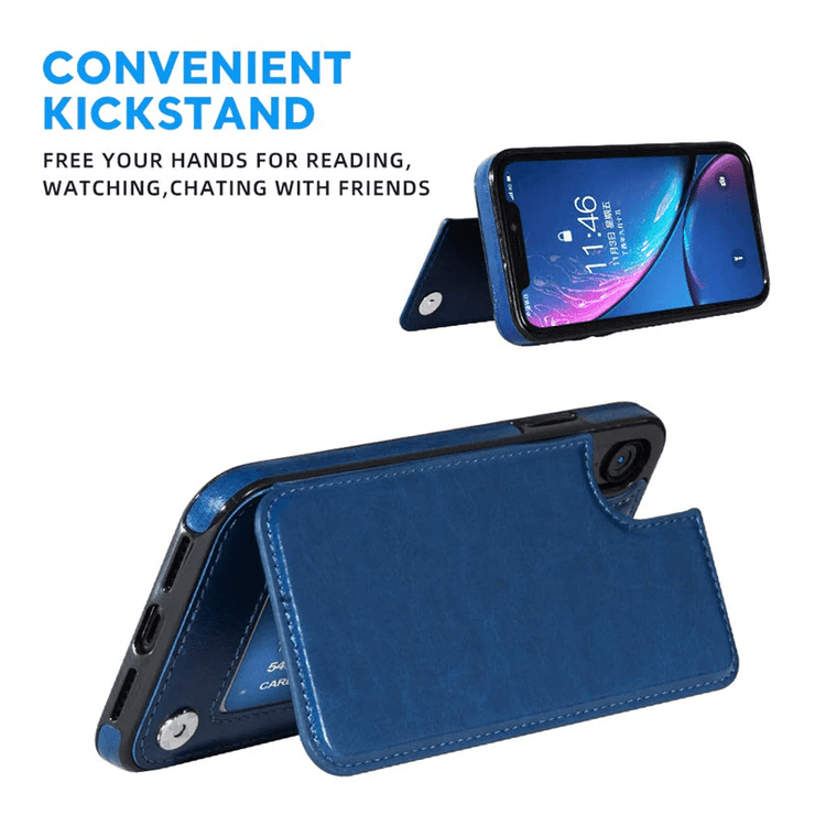 Flip Leather iPhone Wallet Case