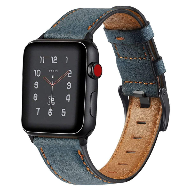Retro Cow Leather Apple Watch Band
