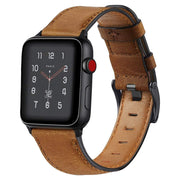 Retro Cow Leather Apple Watch Band Brown / 38mm/40mm