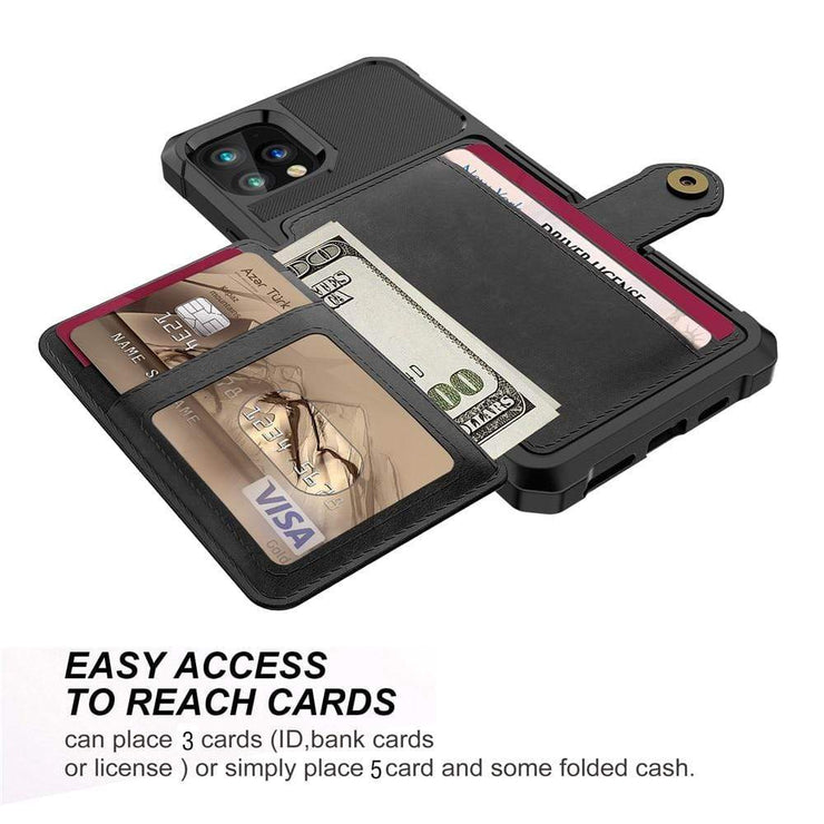 Magnetic Leather iPhone Wallet Case
