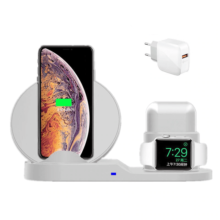 Apple Watch 3 In 1 Fast Charging Station White / EU