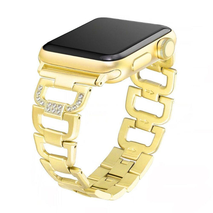 Apple Watch D Link Rhinestone Band Gold / 38mm/40mm