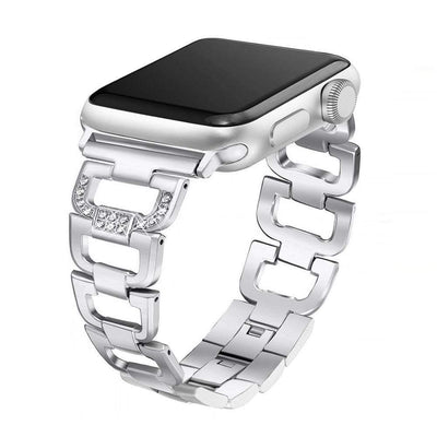 Apple Watch D Link Rhinestone Band Silver / 38mm/40mm