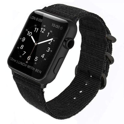 Apple Watch Double Buckle Nylon Band Black / 38mm/40mm