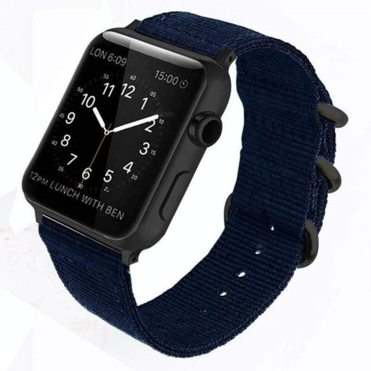 Apple Watch Double Buckle Nylon Band Blue / 38mm/40mm