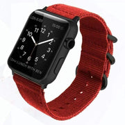Apple Watch Double Buckle Nylon Band Red / 38mm/40mm
