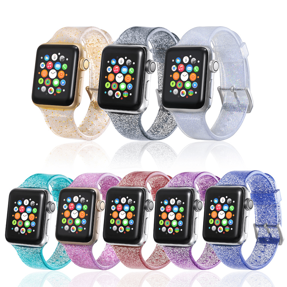 Glitter Silicone Apple Watch Band