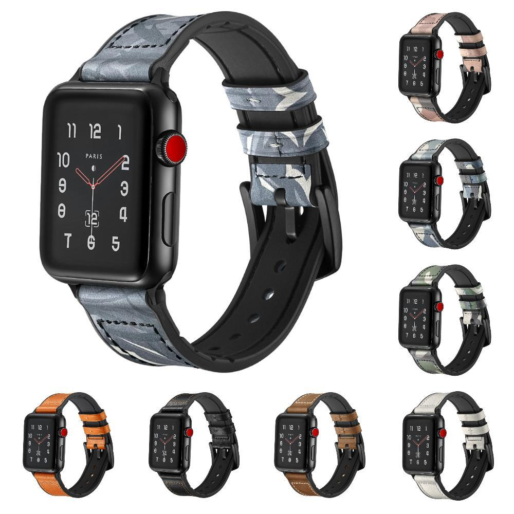 Apple Watch Heavy Duty Leather Rubber Band