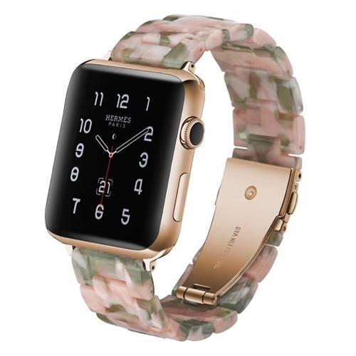 Apple Watch Limited Edition Resin Band Pink/Green Marble / 38mm/40mm