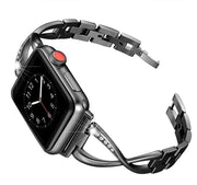 Apple Watch Rhinestone Bracelet Band Black / 38mm/40mm