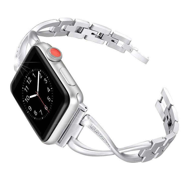 Apple Watch Rhinestone Bracelet Band Silver / 38mm/40mm