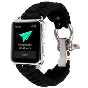 Apple Watch Rope Bracelet Band Black / 38mm/40mm