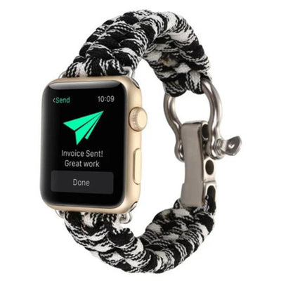 Apple Watch Rope Bracelet Band Black/White / 38mm/40mm