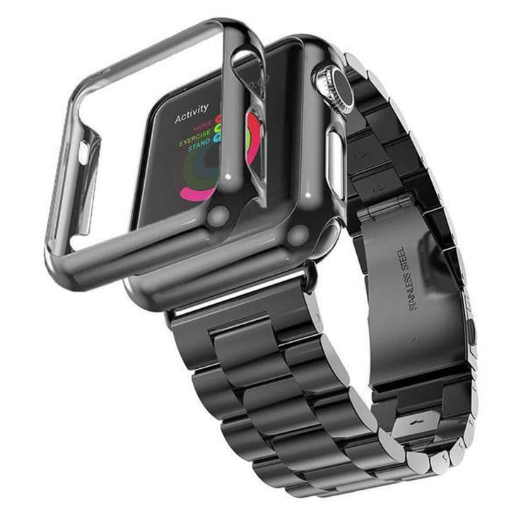Apple Watch Series 1-3 Stainless Steel Band With Case + FREE Band Adjuster Tool Black / Series 1 / 38mm
