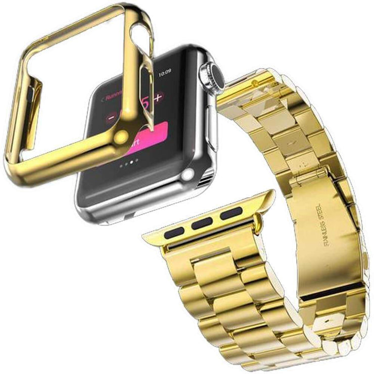 Apple Watch Series 1-3 Stainless Steel Band With Case + FREE Band Adjuster Tool Gold / Series 1 / 38mm