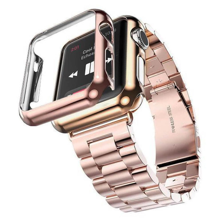 Apple Watch Series 1-3 Stainless Steel Band With Case + FREE Band Adjuster Tool Rose Gold / Series 1 / 38mm