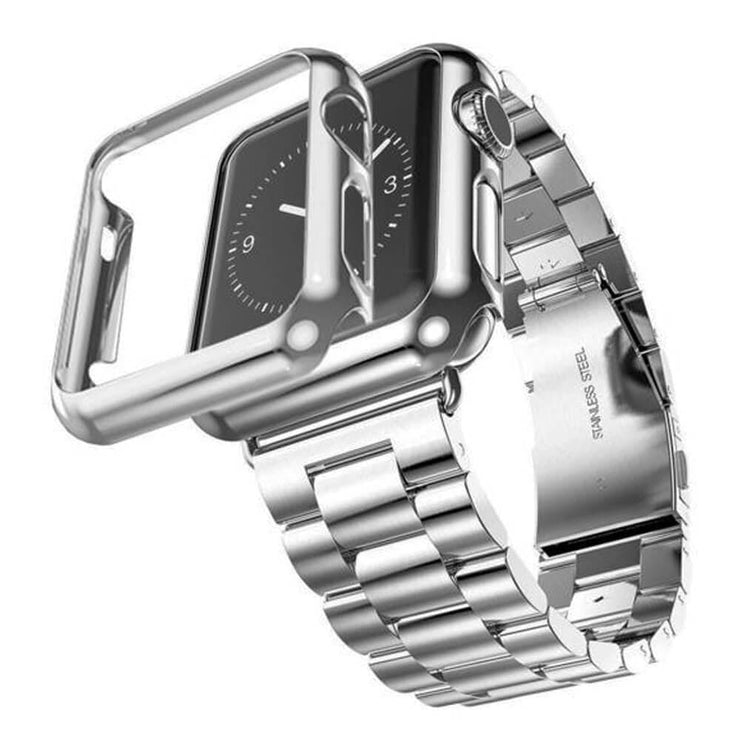 Apple Watch Series 1-3 Stainless Steel Band With Case + FREE Band Adjuster Tool Silver / Series 1 / 38mm