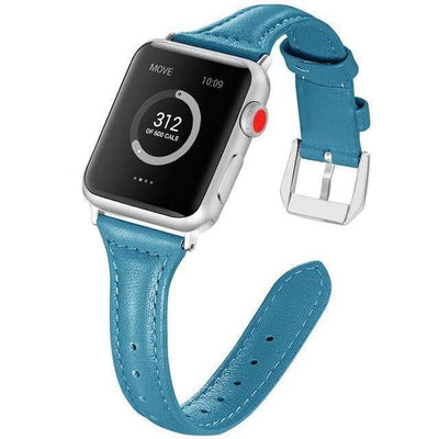 Apple Watch Slim Leather Bracelet Band Blue / 38mm/40mm