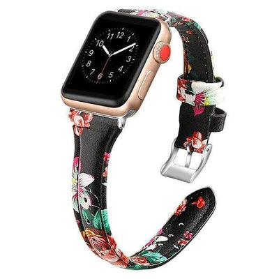 Apple Watch Slim Leather Bracelet Band Flower 2 / 38mm/40mm