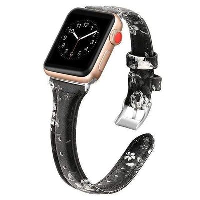 Apple Watch Slim Leather Bracelet Band Flower 4 / 38mm/40mm
