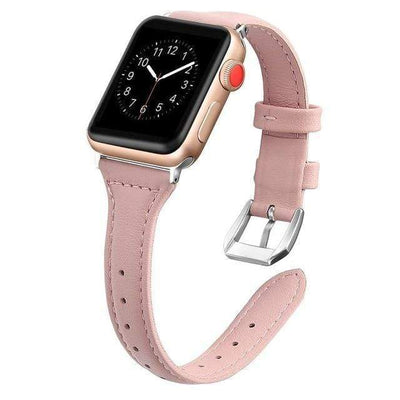Apple Watch Slim Leather Bracelet Band Pink / 38mm/40mm