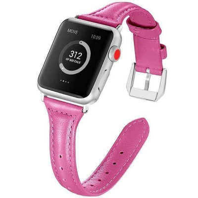 Apple Watch Slim Leather Bracelet Band Rose Pink / 38mm/40mm