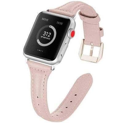 Apple Watch Slim Leather Bracelet Band Sand Pink / 38mm/40mm