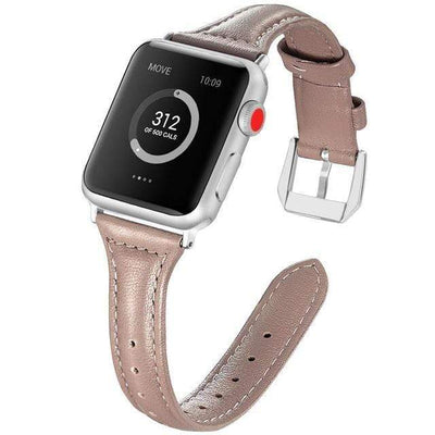 Apple Watch Slim Leather Bracelet Band Taupe / 38mm/40mm