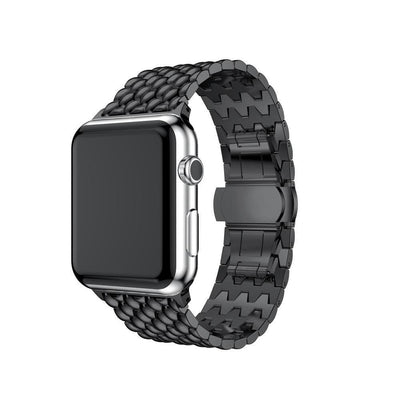 Apple Watch Stainless Steel Bracelet Band Black / 38mm/40mm