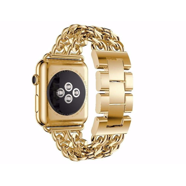 Apple Watch Stainless Steel Chain Bracelet Band Gold / 38mm/40mm