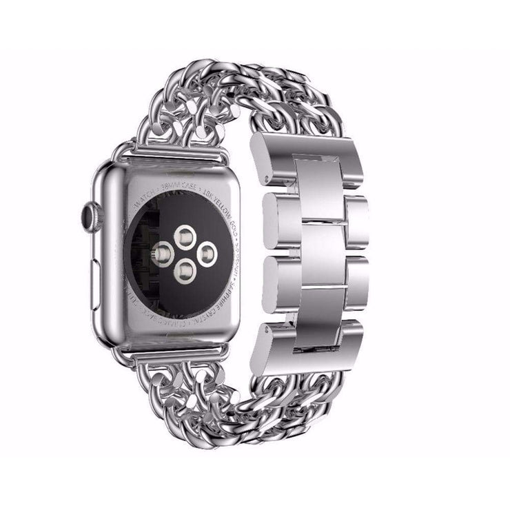 Apple Watch Stainless Steel Chain Bracelet Band Silver / 38mm/40mm