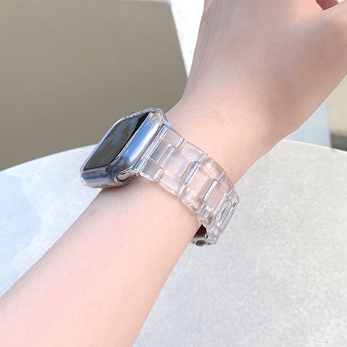 Transparent Resin Apple Watch Band