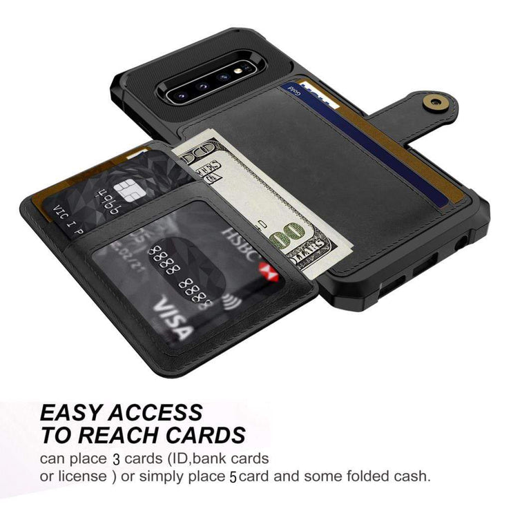Magnetic Leather Samsung Galaxy Wallet Case