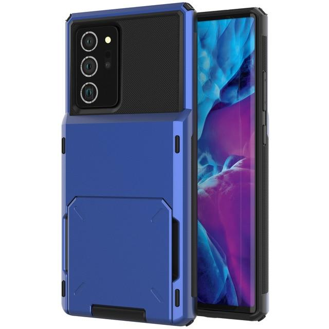Hidden Card Slot Samsung Galaxy Note Case for Galaxy Note 9 / Blue
