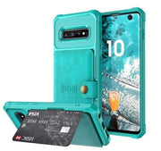 Magnetic Leather Samsung Galaxy Wallet Case for Galaxy Note 9 / Green