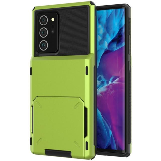 Hidden Card Slot Samsung Galaxy Note Case for Galaxy Note 9 / Green