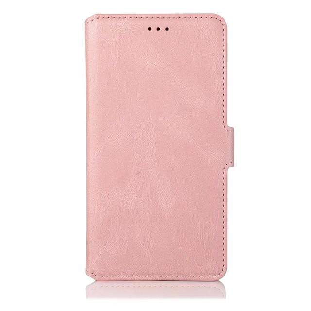 Flip Leather Samsung Galaxy Wallet Case For Galaxy A10 / Rose Gold