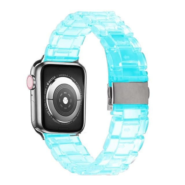 Transparent Resin Apple Watch Band Transparent blue / 44mm series 5 4