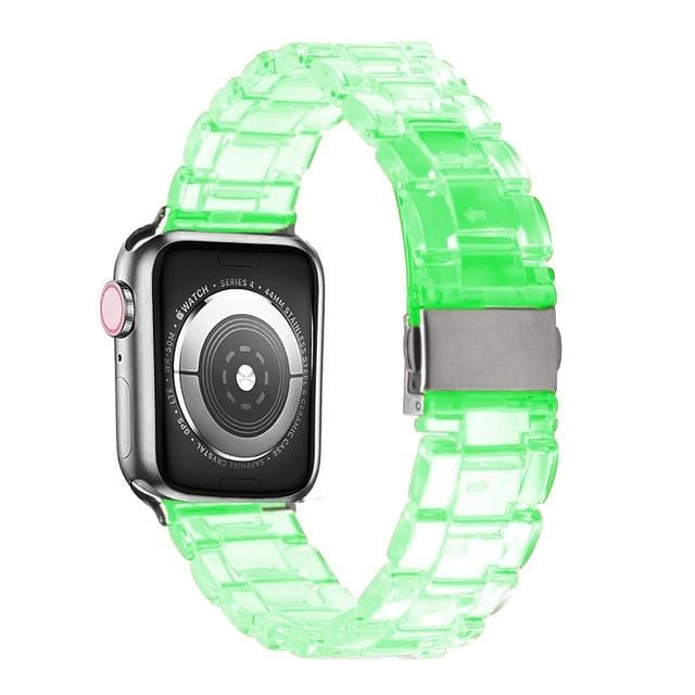 Transparent Resin Apple Watch Band Transparent green / 44mm series 5 4