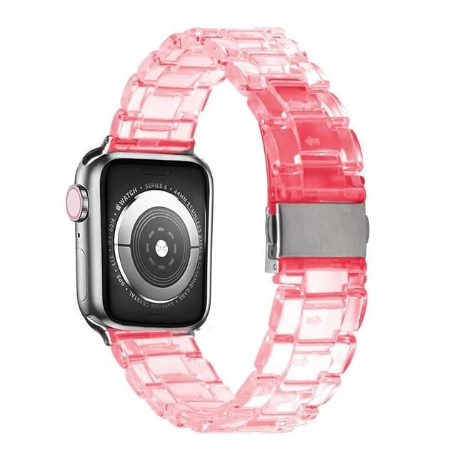 Transparent Resin Apple Watch Band Transparent rose / 44mm series 5 4