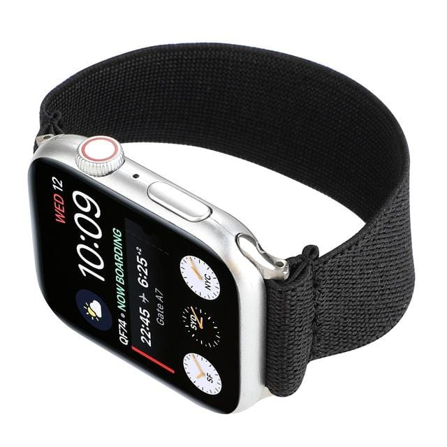 Elastic Buckle Free Apple Watch Bands black / for 38mm or 40mm