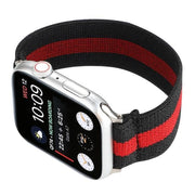 Elastic Buckle Free Apple Watch Bands black red / for 38mm or 40mm