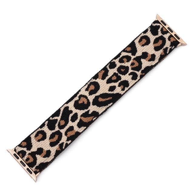 Elastic Buckle Free Apple Watch Bands light Leopard / for 38mm or 40mm