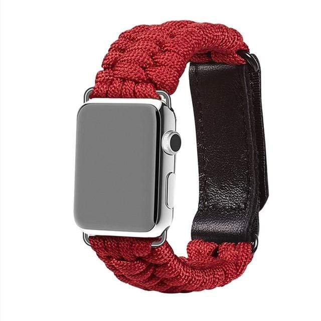 Survival Rope Apple Watch Band red / 38mm or 40mm