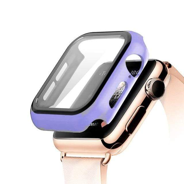 Tempered Glass Apple Watch Protective Case sea blue / 38mm series 3 2 1