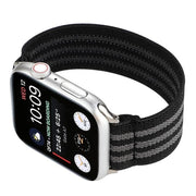 Elastic Buckle Free Apple Watch Bands Black Gray / for 38mm or 40mm