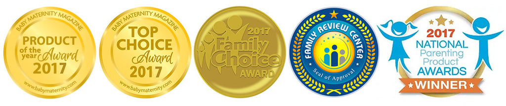 Lulyboo Earns 2017 Family Choice, Family Review Center, Baby Maternity, and National Parenting Product Awards
