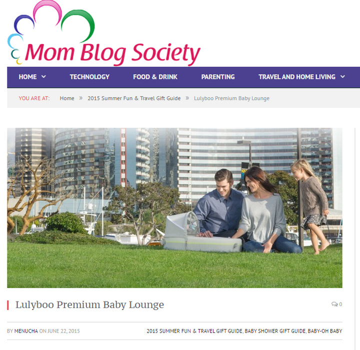 Mom Blog Society emphasized LulyBoo Premium Baby Lounge's coziness