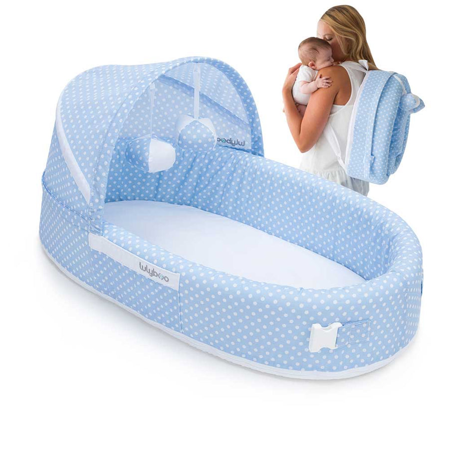 Bassinet To-Go: Blue Dots